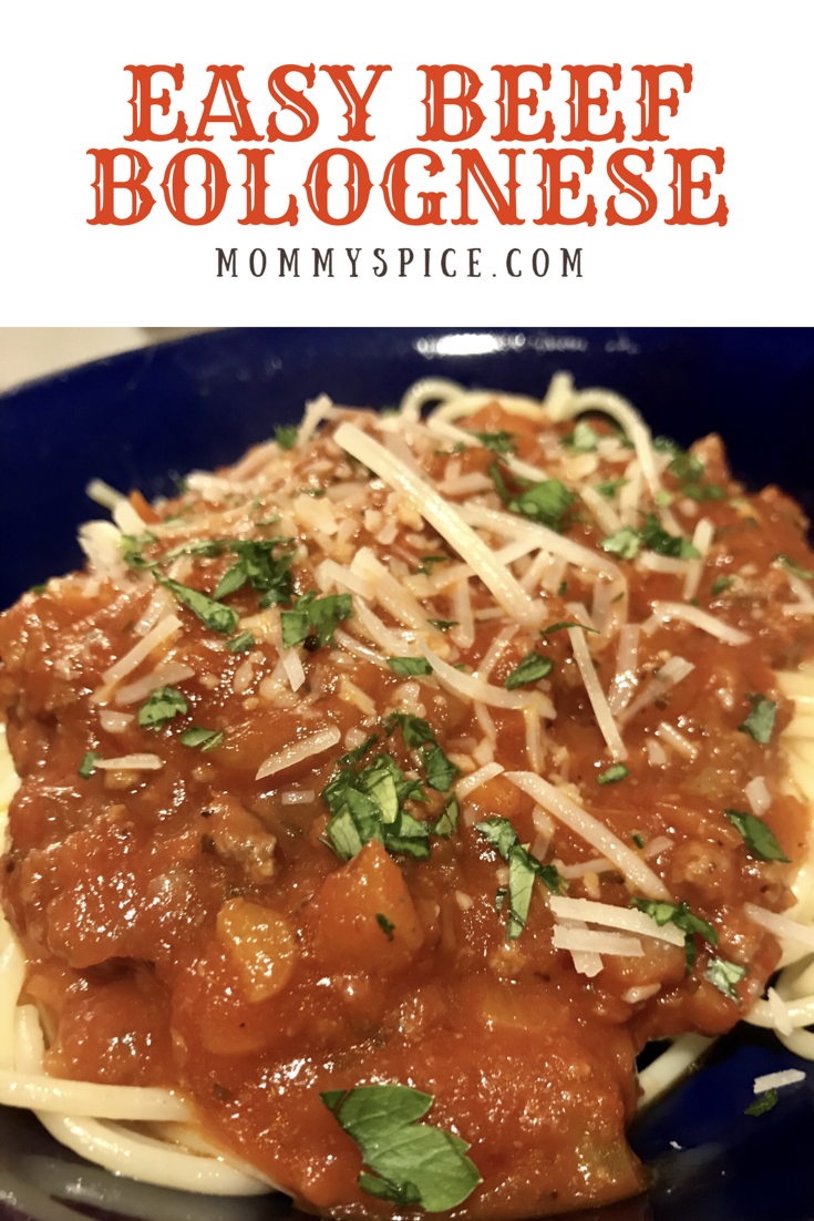Easy Beef Bolognese