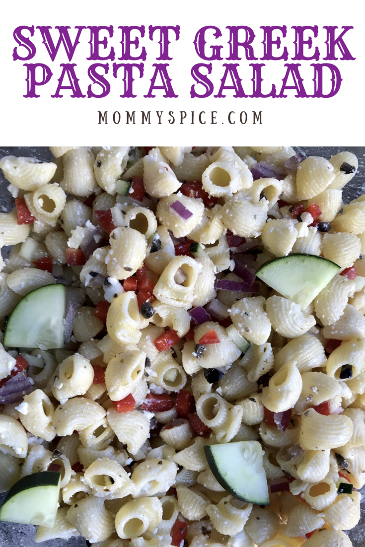 Sweet Greek Pasta Salad