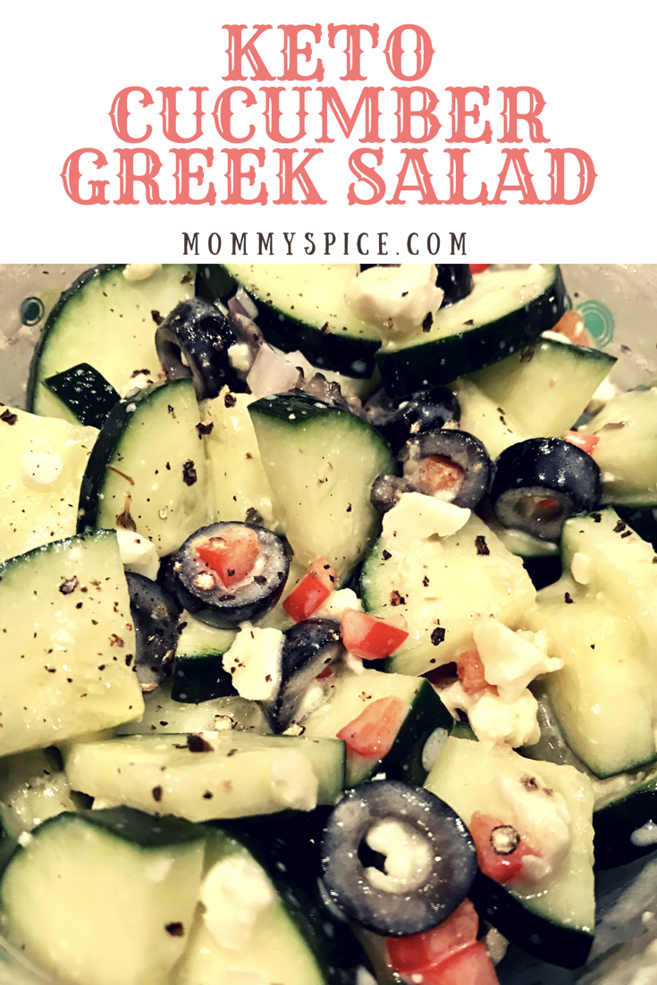 Keto Cucumber Greek Salad