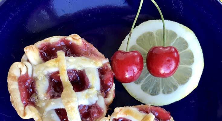 Cherry Lemon Mini Pies