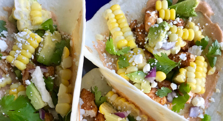 Street Corn Chicken Tacos